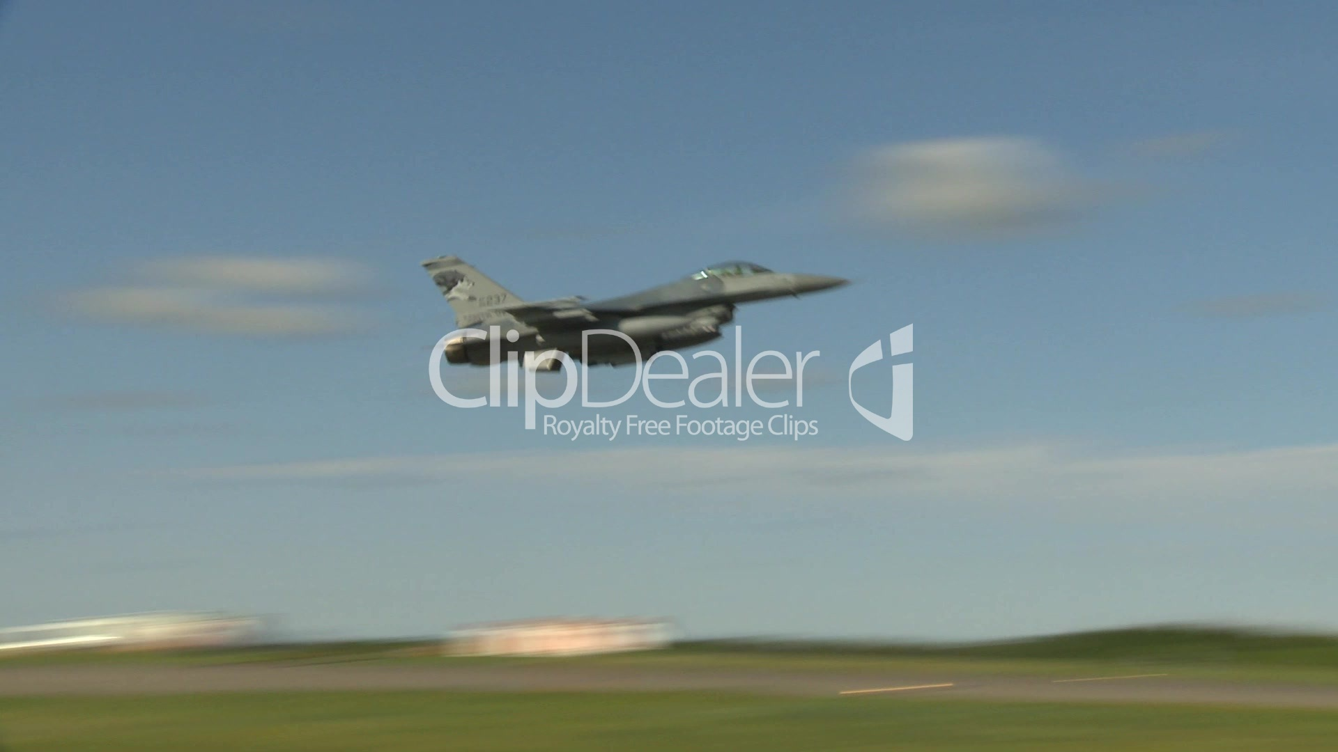 HD2009-6-2-41 F16 Falcon takeoff: Royalty-free video and