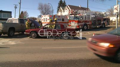 ambulance and fire truck accident
