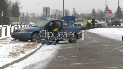 auto accident 3-shot