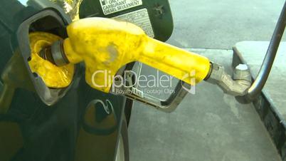 diesel fill up gas pump
