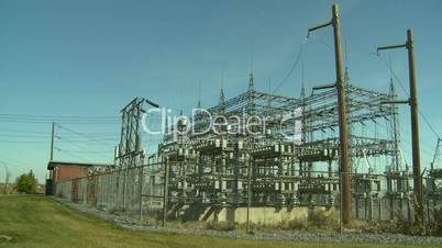 electric substation plane thru frame