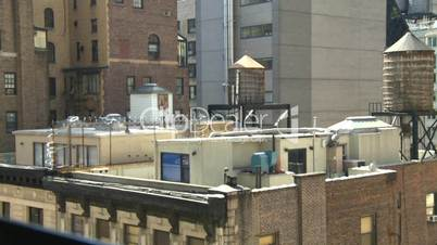 NYC buildings rooftop water reservoirs
