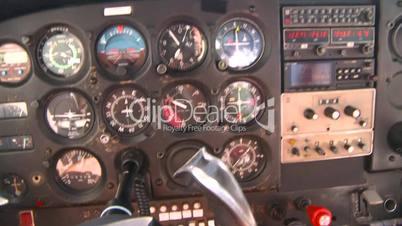 instrument panel in flight