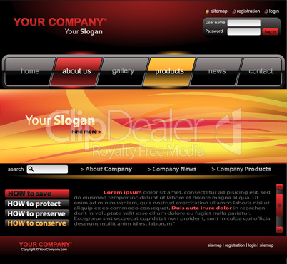 Website Template gelb