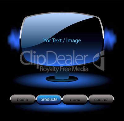 Website Template blau