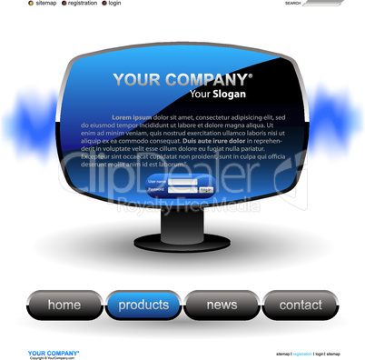 Website Template blau