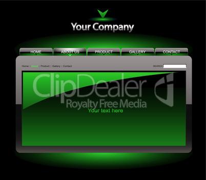 Website Template grün