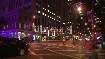 NYC night traffic