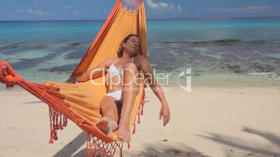 woman in hammock sunny