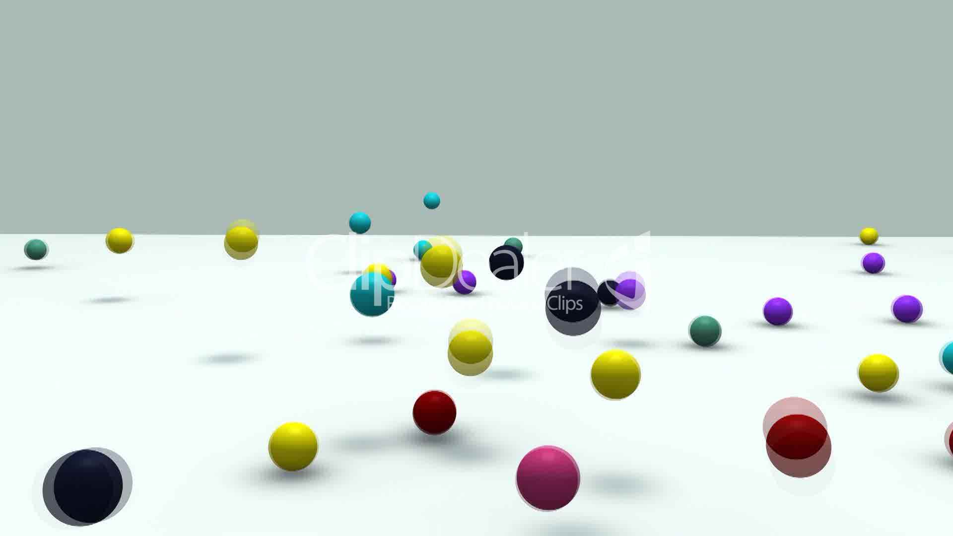 3d Animation Falling Colorful Balls Royalty Free Video