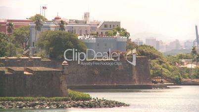 San Juan fort from ocean