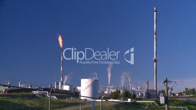gas plant and flare