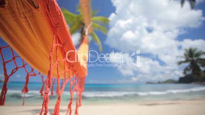 empty hammock on beautiful beach audio