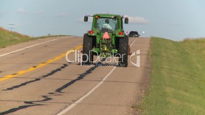 farm tractor highway