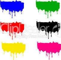tropfende Farbe