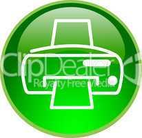 3D Button grün Drucker