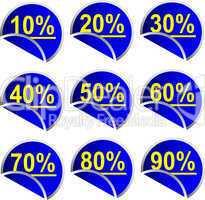Button Set Prozente