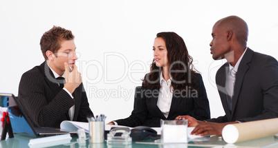 Businessteam conversing about a new plan