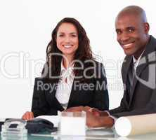 Businessteam in a meeting
