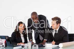 Businessteam discussing