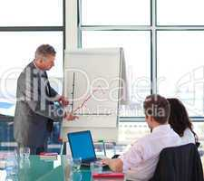 businessman in a presentation