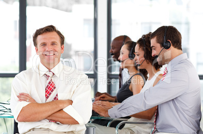 Senior leadership in a call center