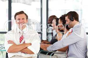 Senior leadership in a call center