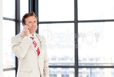 Businessman speaking on a phone
