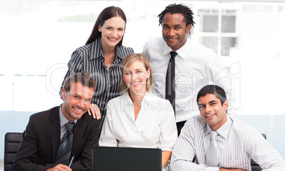 Business team together in an office