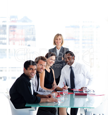 Business team working together in a meeting