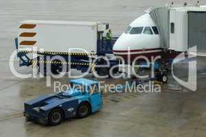 Service an einem Passagierjet
