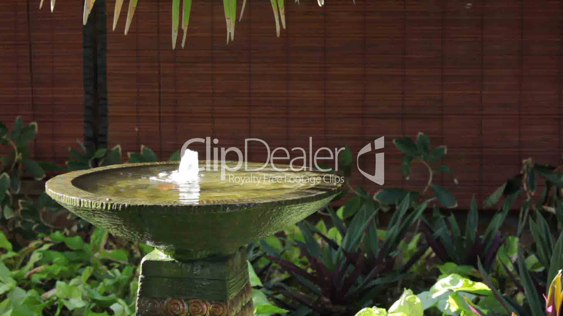 brunnen im garten royalty free video and stock footage. Black Bedroom Furniture Sets. Home Design Ideas