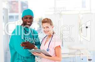 Doctor and nurse in a hospital
