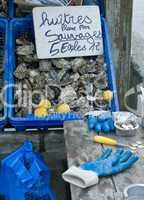 Austern-Marktstand in Cancale