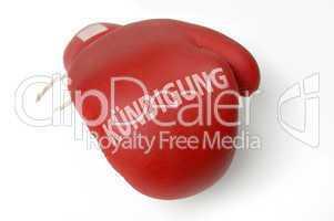 Roter Boxhandschuh Kündigung