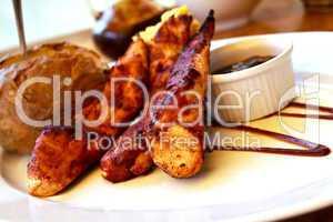 Hühnerbrust , gegrillt