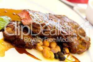Rumpsteak(Roastbeef) - gegrillt,mit Soße