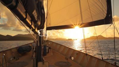 romantische Schifffahrt