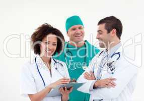 Happy  Team of Doctors Working Together