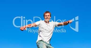 Man having fun