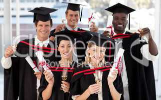 Group of people Graduating from College