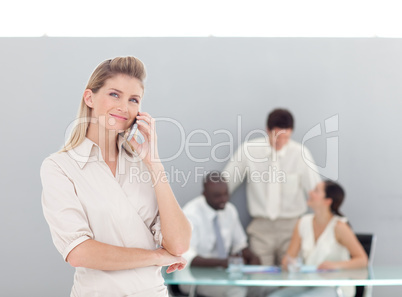 Business woman working in the office