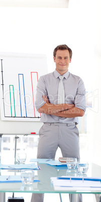 Confident Businessman with arms Folded