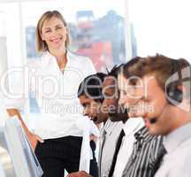Woman showing leadershp in business