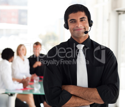 Man showing leadersip quality