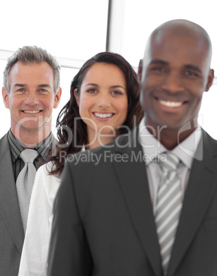 Multi-ethnic Business group looking at camera