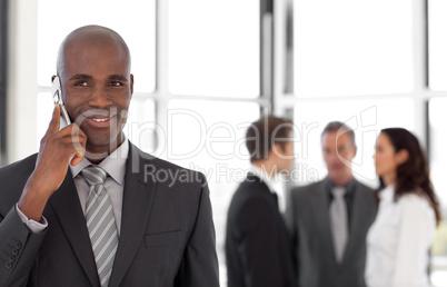 Senior Businessman Talking on the phone
