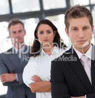 Serious Resolute and Confident Businessman