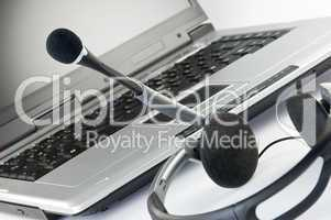Headset mit Laptop
