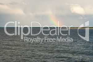 Meer mit Regenbogen, sea with rainbow